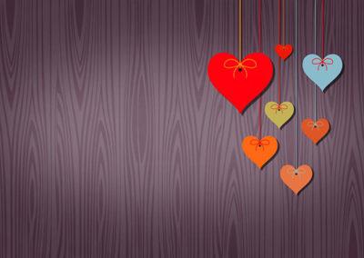 corazones party